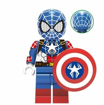Spider-Man X Captain America Marvel Super Heroes Custom Minifigures Toys Gifts - $2.99