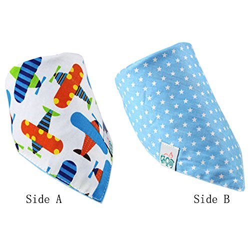 Lovely Cotton Double Layer Saliva Towel Adjustable Baby Neckerchief 16 11""