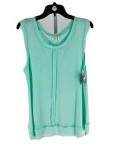Xhilaration Juniors Mint Green Waffle Knit Scoop Neck Sleep Shirt Size L... - $7.92