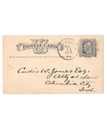 Sc UX5 Pittsburgh PA 1879 Fancy Cancel 4 Pane Angled Grids Killer Postal... - €8,67 EUR