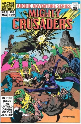 Adventures of The Mighty Crusaders Comic Book #7 Archie 1984 NEAR MINT