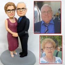 clay figurine custom wedding cake topper birthday Christmas decoration c... - $148.00
