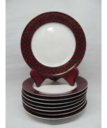 "Sasaki TARTAN PLAID 7.75"" Salad Plate Charles Roberts Bundle of 8  Japan - $81.93"