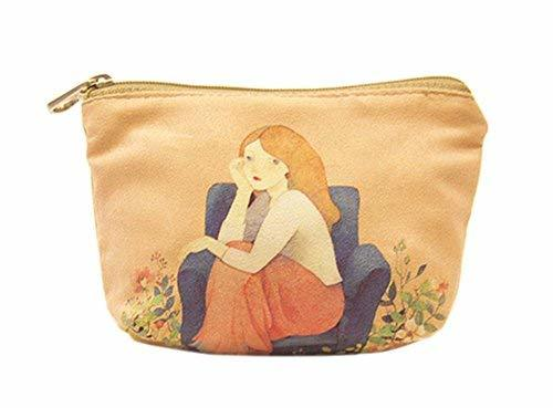 Creative And Elegant Canvas Cosmetic Bags/Purse
