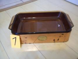 VNTG ANCHOR HOCKING CHEZ GOURMAND 2 QT CASSEROLE SERVING DISH W COPPER C... - $18.70