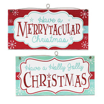 Holly Jolly Christmas Merrytacular Wall Sign MDF, 13.38 x 6.69 inches Re... - $10.99