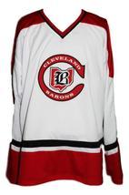 Any Name Number Cleveland Barons Retro Hockey Jersey New White Maruk  Any Size image 4