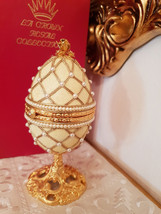 Yellow egg Faberge egg style Imperial Trinket Egg / Hand Decorated  Fabergé egg  - $219.00