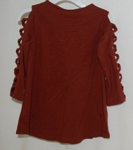 Simply Noelle Curtsy Couture Girls Cutout Long Sleeve Shirt Paprika Size 2T image 2