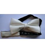 Tony Zenn Fashion Adjustable Neckwear Bow Tie Necktie White Color Made I... - $20.94