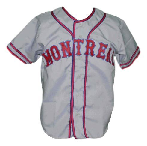 Montreal royals retro baseball jersey 1946 grey 1