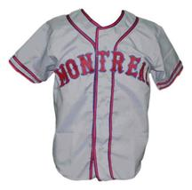 Montreal Royals retro Baseball Jersey 1946 Button Down Grey Any Size image 1