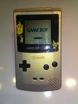 1998 Nintendo Game Boy Color Pokemon Pikachu Edition. Powers On but no G... - $17.50