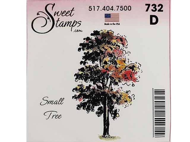 Sweet Stamps Small Tree Rubber Cling Stamp #D732