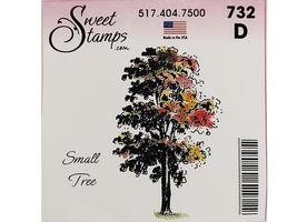 Sweet Stamps Small Tree Rubber Cling Stamp #D732 image 1