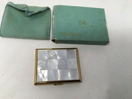 Vtg Elgin American Mother of Pearl Makeup Case Mirror Powder Compact Nev... - $37.21