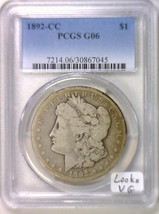 1892-CC Morgan Dollar PCGS G-06; Looks VG - $197.99