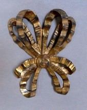 Gilt Bow Sculptural Wall Hanging Mid Century Composition Italian C.1950'... - $185.00