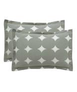 Dwellstudio Ash Gray Ikat Dot Tailored Shams - Size - King - $99.95