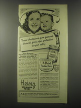 1941 Heinz Strained Carrots Ad - These wholesome, fine-flavored strained... - $14.99