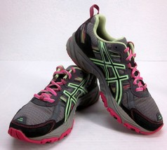 Asics Gel-Venture 5 Titanium Pistachio Pink Training Shoes Women's Sz 7.5 T5N8N - $41.91