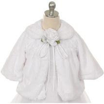 White Hi Quality Soft Faux Fur Half Coat for Girls - $33.00