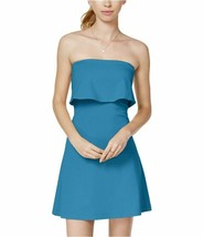 In Awe Of You - Ponte-Knit Fit & Flare A-Line Strapless Dress, Blue NWT ... - $7.20