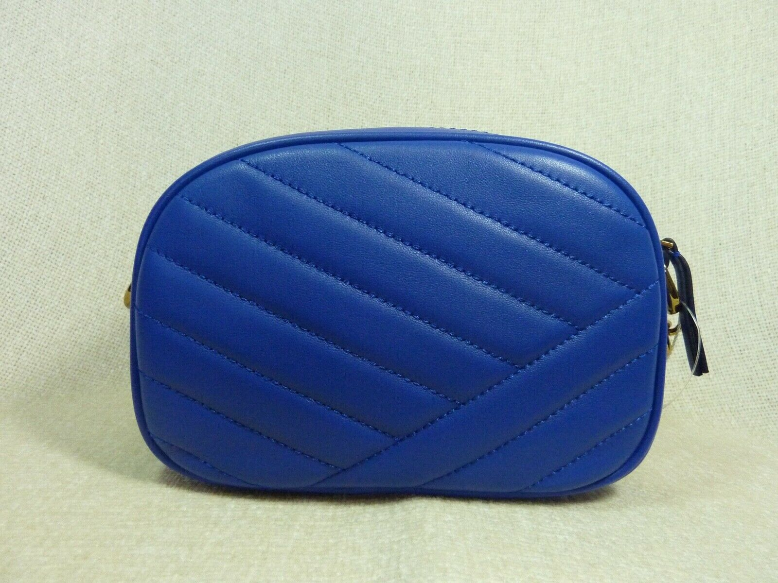 NWT Tory Burch Nautical Blue Kira Chevron Small Camera Bag $358 image 4