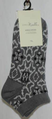 Simply Noelle Dark Grayes Light Gray Ankle Socks One Size Fits Most