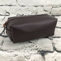 Cole Haan Small Brown Zippered Pouch Case Bag - $9.89