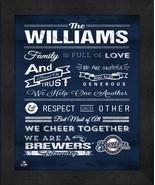 "Milwaukee Brewers ""Family Cheer"" 13 x 16 Framed Print - $39.95"