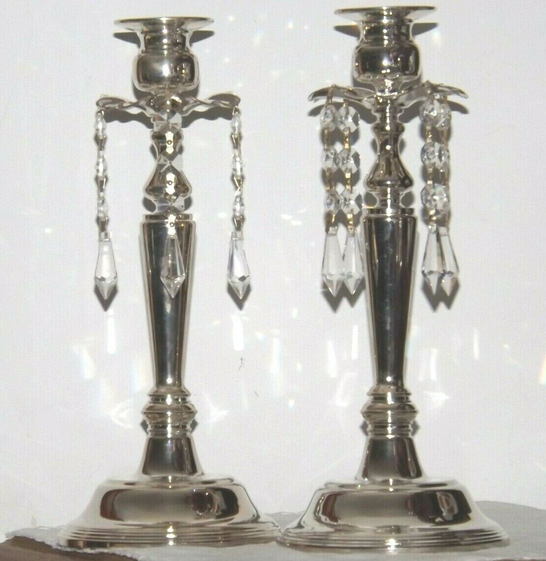 Milkasa Candle Stick Holders in blue box  AA19-1582 Vintage Pair