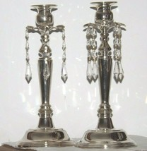 Milkasa Candle Stick Holders in blue box  AA19-1582 Vintage Pair image 1