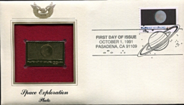 SPACE EXPLORATION - Pluto First Day Gold Stamp Issue Oct. 1, 1991 - $8.50