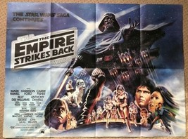 The Empire Strikes Back 1980 Original UK Quad Film Movie Poster STAR WARS - $756.67