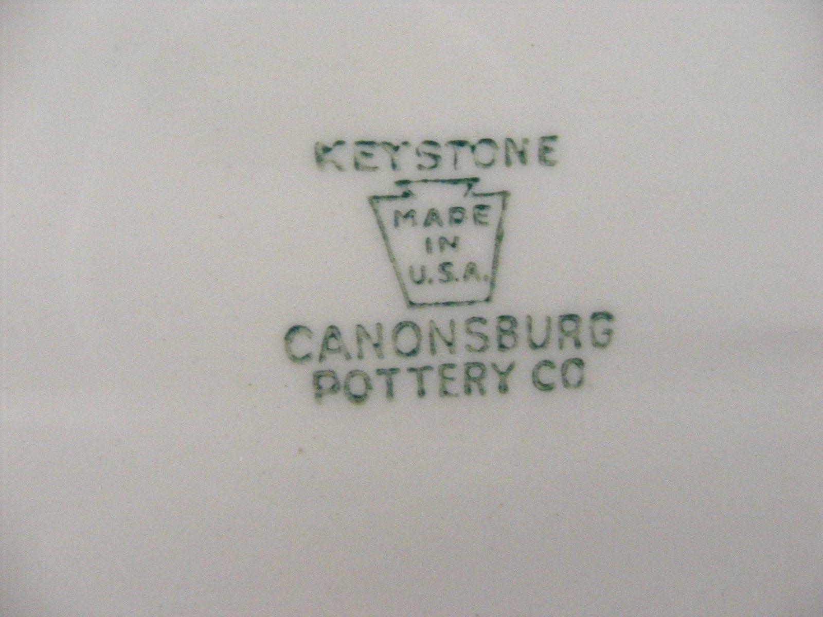 "Canonsburg Pottery Keystone Pink Roses Gold Trim 11 7/8"" Oval Serving Platter"
