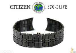 Citizen Eco-Drive AR3015-53E 20mm Schwarz Ion Überzogen Edelstahl Uhrena... - $231.39