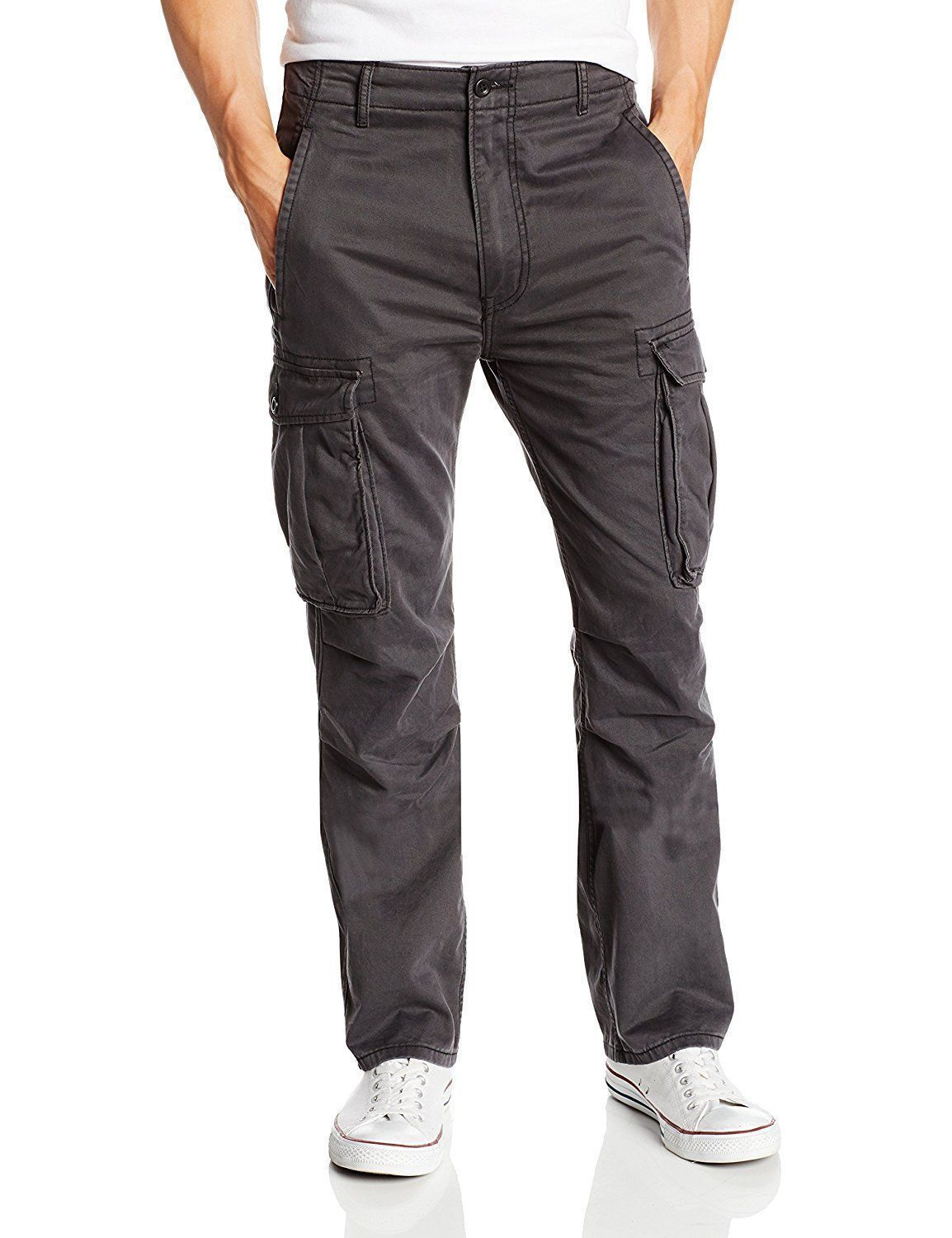 Levi's Strauss Men's Original Relaxed Fit Cargo I Pants Gray 124620049