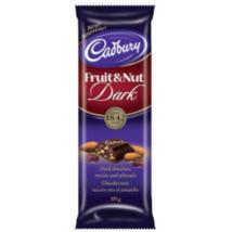 Cadbury Fruit & Nut Dark Chocolate 12 x 100g bars Canadian  - $79.99
