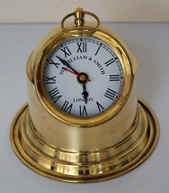Brass binnacle ship helmet style home decor working with battery clock w... - $75.00