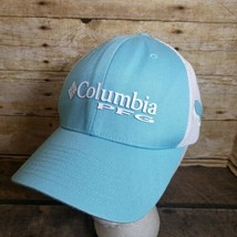 Columbia PFG Mesh Ball Cap, Aqua Blue S/M Flex Hat - $24.19