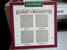Longaberger Pewter Basket Ornaments Commemorative Christmas Collection 1997 NIB - $13.31