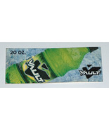 RARE VAULT Discontinued Soda, Soft Drink Plastic 20oz Bottle Tag Sign Label - $12.85