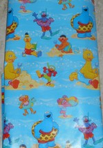 Sesame Street Friends at the Beach Gift Wrapping Paper 12.5 Sq Ft Roll - $7.00