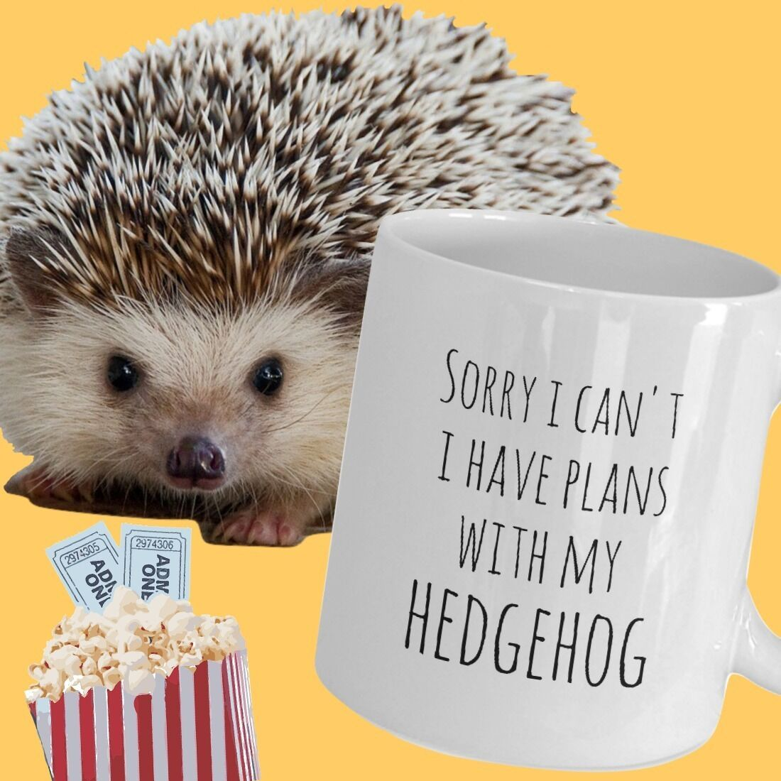 Hedgehog Mug Sorry I Can't I Have Plans With My Hedgehog Owner Hedgehog Life Cup image 2