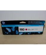 HP 980 Magenta Ink Cartridge D8J08A Genuine New for Enterprise X555, MFP... - $29.99