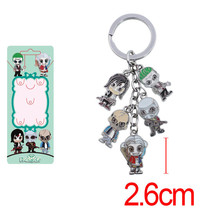 Suicide Squad Keychain The Joker Harley Quinn Figure Toys Metal Alloy Pe... - $5.93