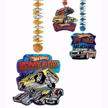 Hot Wheels Speed City Dangling Cutouts Hanging Party Decorations 3 Pieces NEW - $6.88