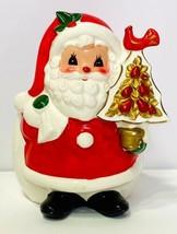 VTG NAPCO Santa Claus Ceramic Christmas Figural Planter Candy Cane Holde... - $42.75