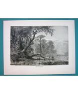 GEORGIA  Russia River Phasis or Rioni - 1866 Antique Print  - $16.20